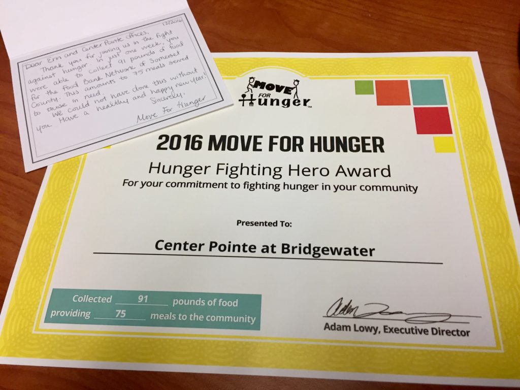 R&J Move for Hunger Food Drive
