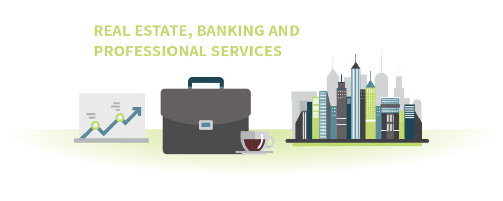 Real Estate, Banking and Professional Services image