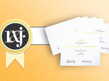 R&J Earns Seven Graphic Design Awards from GDUSA