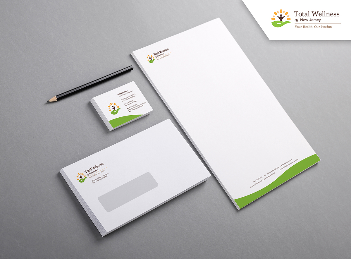 Total Wellness of NJ Branding print collateral