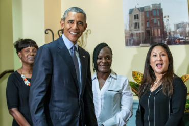 President Obama Visits Integrity House