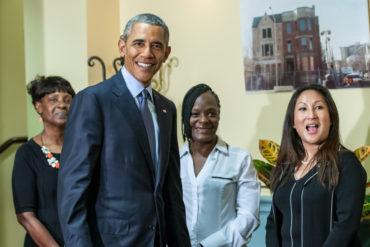 President Obama Visits Integrity House