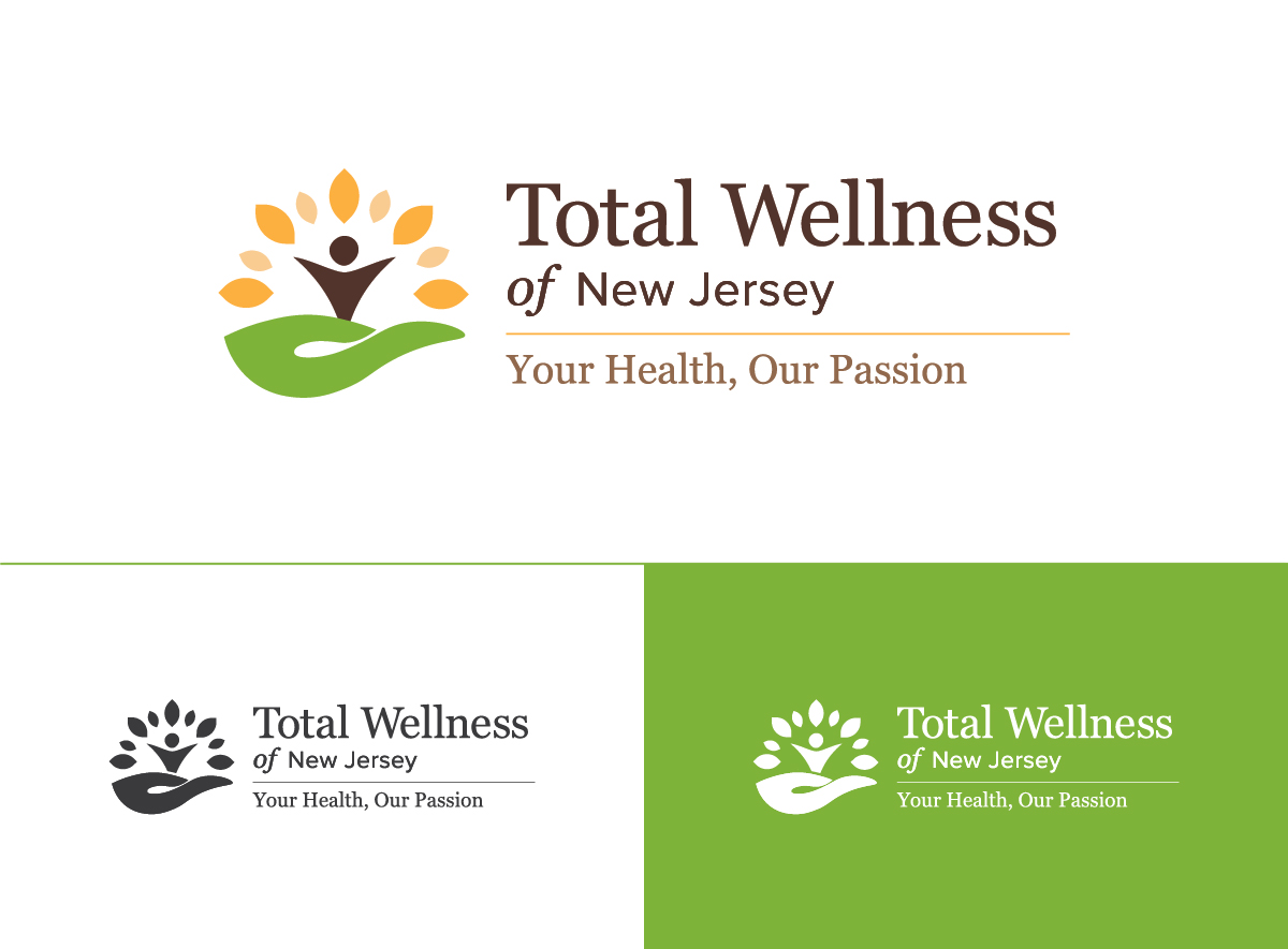 Total Wellness of NJ Branding logo variations