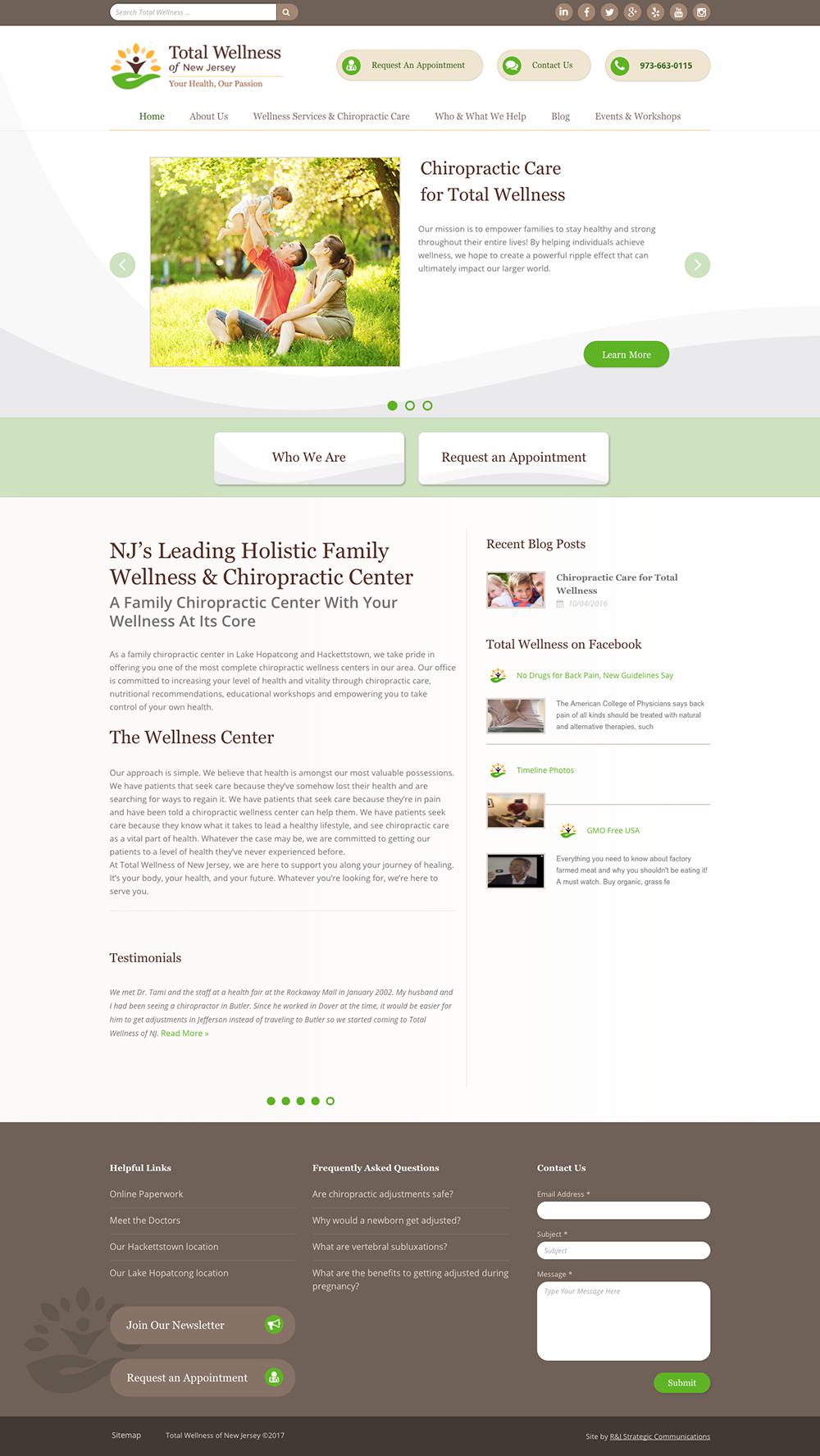 Total Wellness of NJ Website screenshot