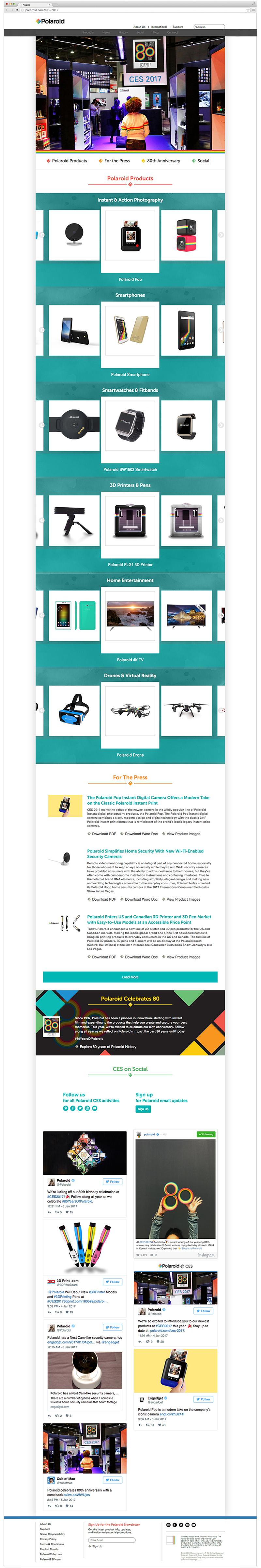 CES 2017 landing page screenshot