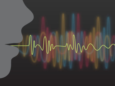 Speech creating sound waves