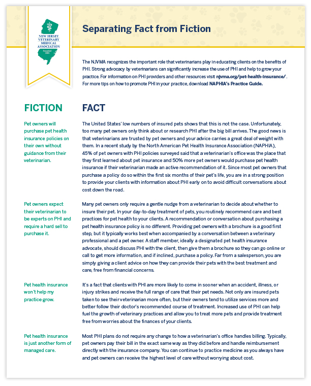 NJVMA Infographic Fact vs. Fiction