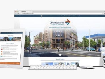 Circle Squared website mockups