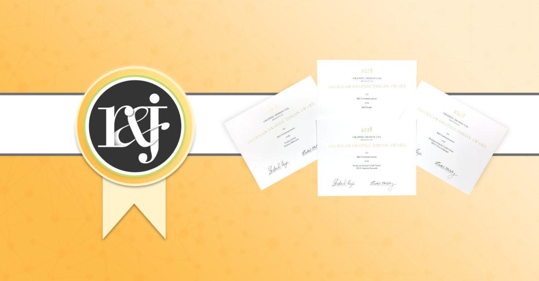 R&J Earns Four Awards from GDUSA Magazine